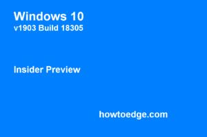 windows insider 19h1 18305