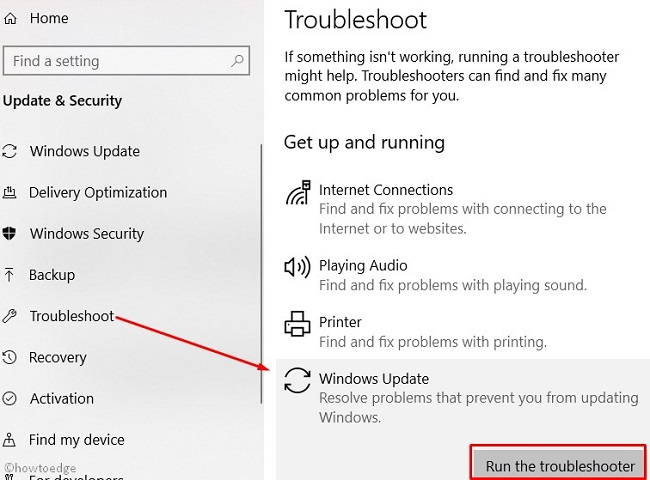 Fix: Check For Updates doesn't work in Windows 10 - Howtoedge