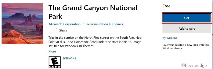 Grand Canyon National Park theme