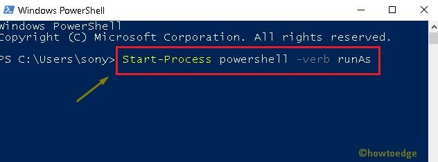 PowerShell as Administrator
