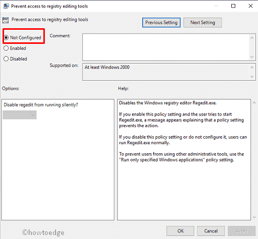 Fix: Can't access Registry Editor in Windows 10 - Howtoedge