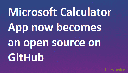 Microsoft Calculator App