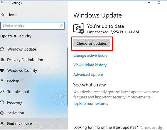 How to download and install Windows 10 19H1 Update - Howtoedge