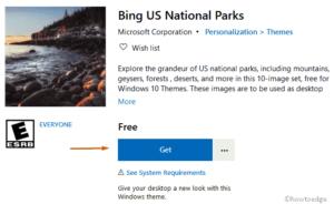Bing US National parks