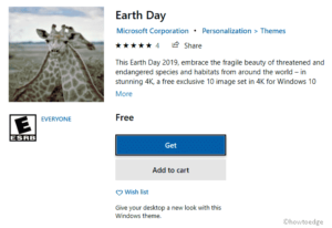Earth day theme