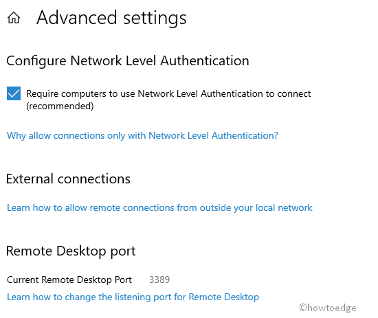 Enable or Disable Remote Desktop on Windows 10 - Howtoedge