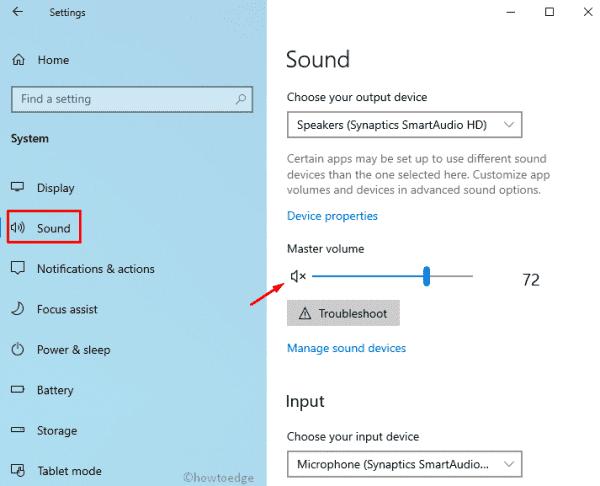 Windows 10 19H1 - Sound