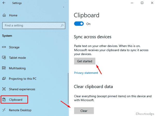 Windows 10 19H1 - Clipboard