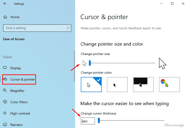 Cursor and Pointer