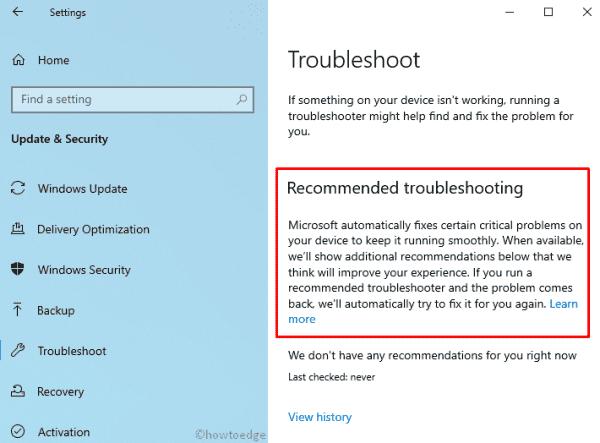 Windows 10 19H1 - troubleshoot