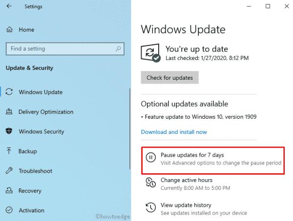 Windows 10 1903 - Windows Update