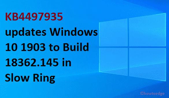 KB4497935 Windows 10 1903