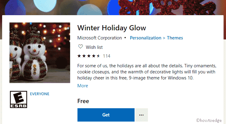 Winter Holiday Glow Theme - image 1