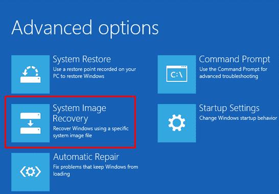 Create Windows 10 backup