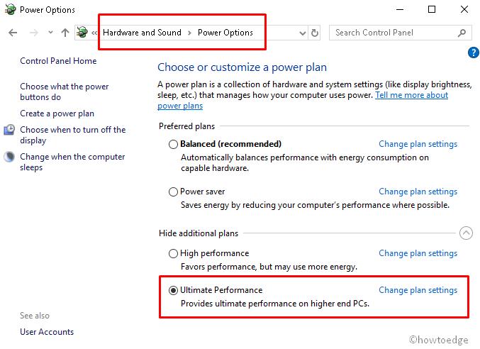 Ultimate Performance on Windows 10
