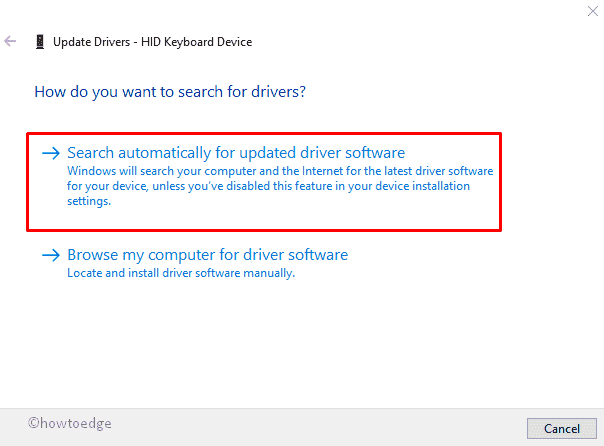 The driver for this device might be corrupted
