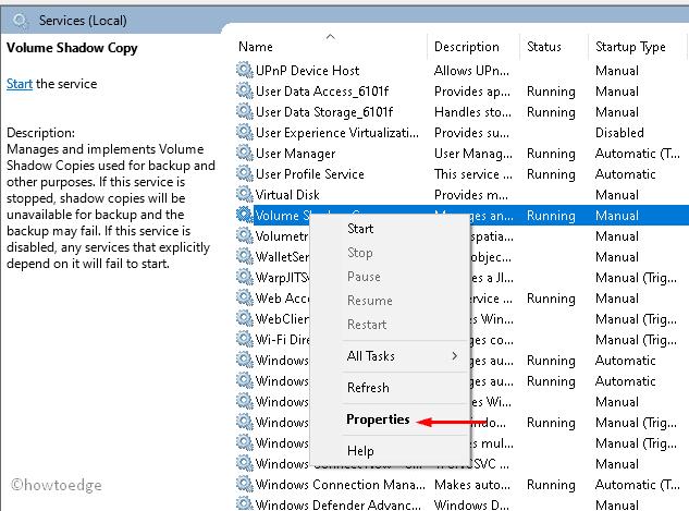 Create Restore point error 0x80042306