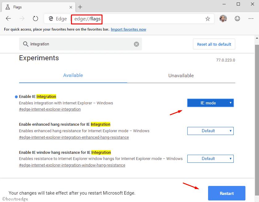 How to enable Internet Explorer Mode in Chromium Edge
