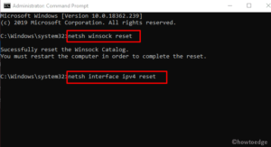 err_connection_reset error