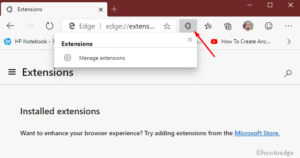 Enable the Extensions Menu Button in Chromium Edge Canary