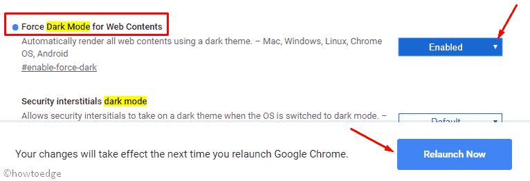 dark mode on all websites in Chrome Canary