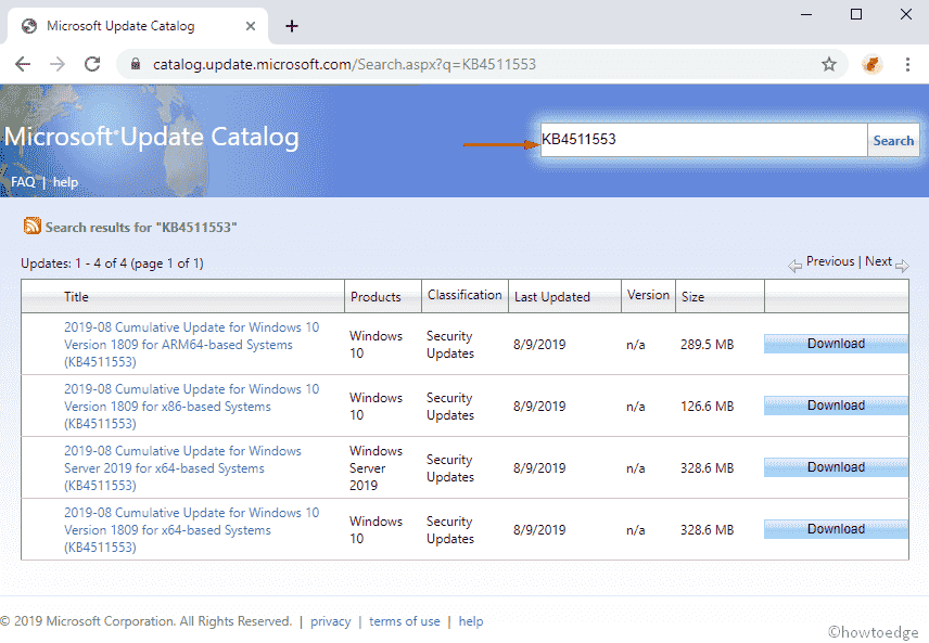 KB4511553 updates Windows 10 1809 to Build 17763 678- 13 Aug