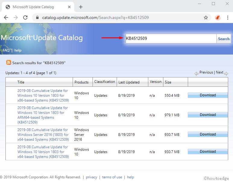 KB4512509 updates Windows 10 1803 to Build 17134 984 – 19