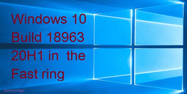 Windows 10 Build 18963