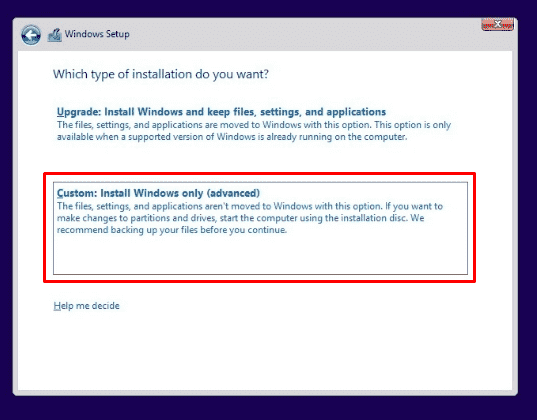 Fresh Install Windows 10