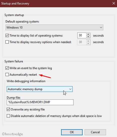 Pause auto-restart OS