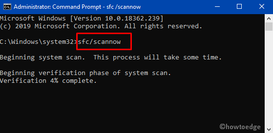 sfc/scannow
