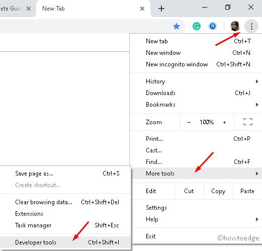 Developer Options Chrome