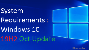 System Requirements to Run Windows 10 19H2