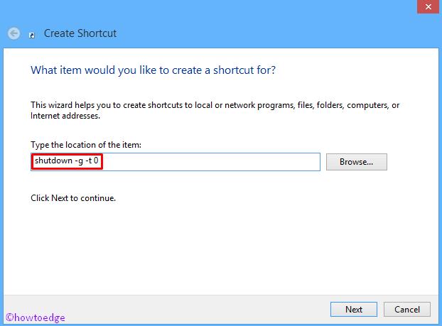 Shutdown and Restart error in Windows