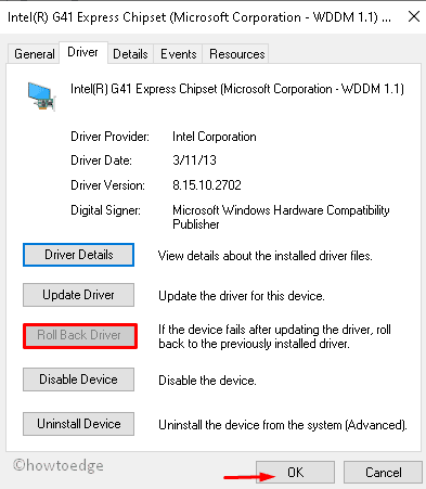 Intel Graphics driver issue