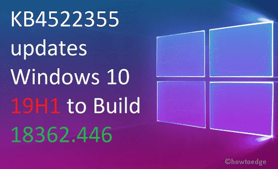KB4522355 Windows 10 19H1
