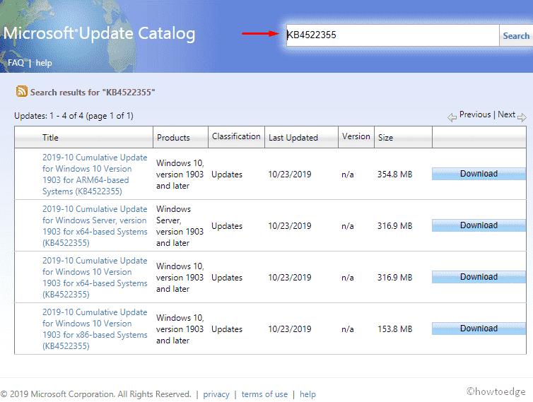 KB4522355 updates Windows 10 19H1 to Build 18362 449 - 24