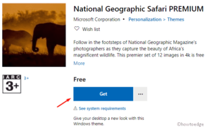 National Geographic Safari PREMIUM Windows 10 theme