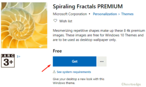 Spiraling Fractals PREMIUMWindows 10 theme