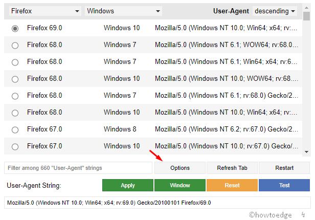 Firefox 69 options