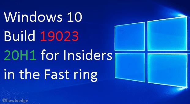Windows 10 Build 19023