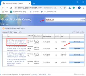 KB4525237 updates Windows 10 1803 to Build 17134.1130