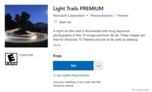 Light Trails PREMIUM Windows 10 Theme