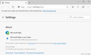 Microsoft Edge Dev build 80.0.328.4