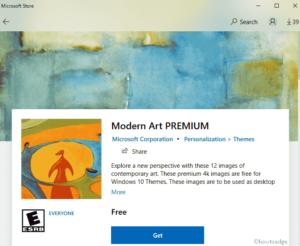 Modern Art Premium Windows 10 Theme