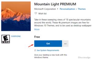 Mountain Light Premium Windows 10 theme