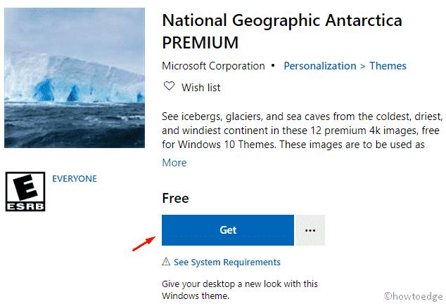 National Geographic Antarctica PREMIUM Windows 10 Theme