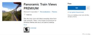 Panoramic Train Views PREMIUM Windows 10 Theme