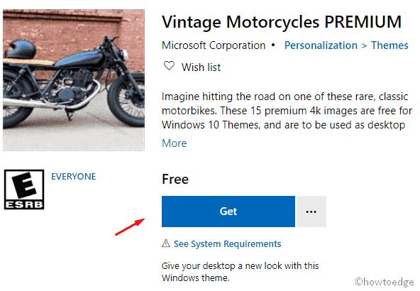 Vintage Motorcycles Premium Windows 10 Theme