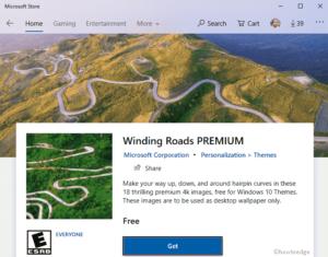 Windings Roads Premium Windows 10 Theme